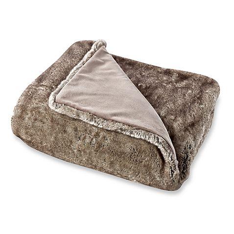 Beaver Luxury Faux-Fur Throw; $99.99