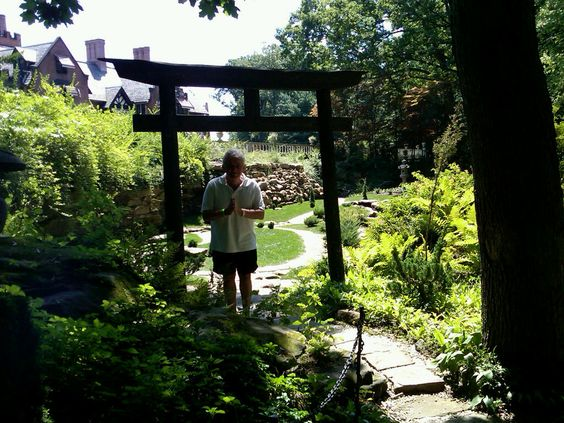 Stan Hywet in Akron, Ohio, estate of the Goodyear Founder. Rebuilt Japanese garden behind the home.