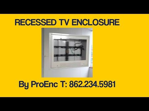 recessed TV enclosure for psychiatric hospitals