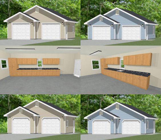 28x28 2car garages pdf plans 728 sq ft by for 28x28 cabin plans