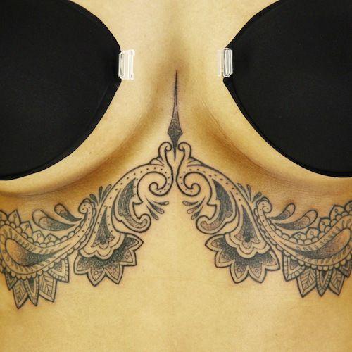 "Under boob tattoo from Episode 3′s ""Ornamental"" challenge ..."
