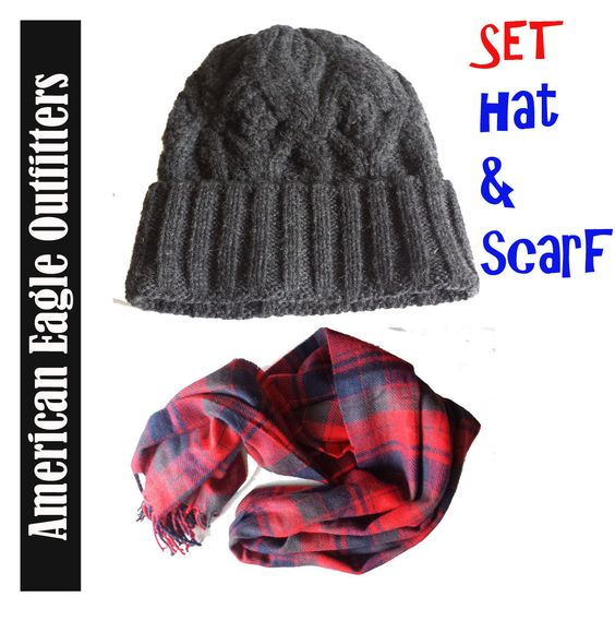 American Eagle Outfitters #women beanie hat and scarf (NEW)  SET visit our ebay store at  http://stores.ebay.com/esquirestore