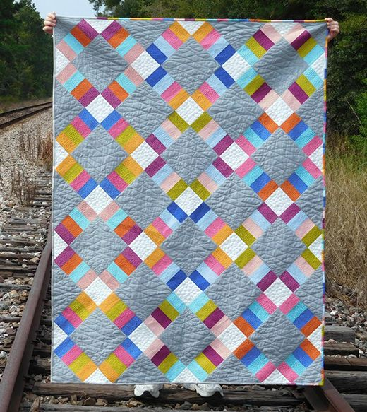 Jelly Roll Railway Quilt Free Pattern | Quilts, Easy quilts, Churn dash  quilt