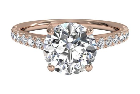 French-Set Diamond Band Engagement Ring - in Rose Gold (0.23 CTW)