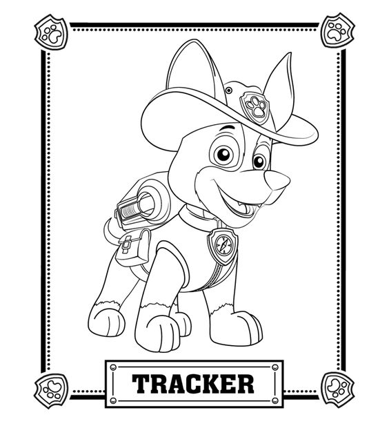 Paw Patrol Robo Dog Coloring Sheets