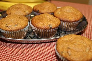The Cookbook Project: Chunky Banana Bran Muffins