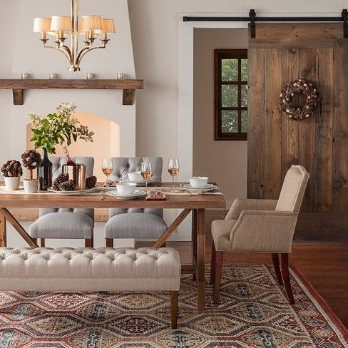 The Wheaton Farmhouse Trestle Dining Table From Threshold 153 Is