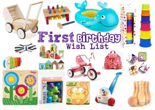 First Birthday Gift Wish List
