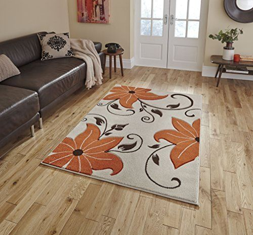 Tapis De Salon Design Moderne Verona Beige Orange 160 X 220