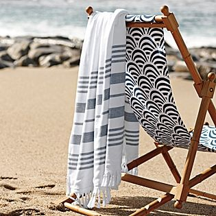 Fouta Oversized Towel   Serena & Lily