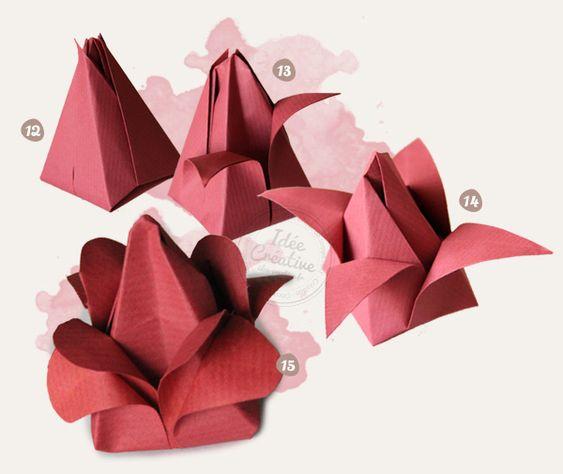 rose en origami origami and d co on pinterest. Black Bedroom Furniture Sets. Home Design Ideas