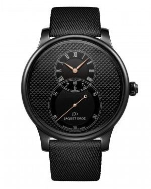 Best watches for men - Jaquet Droz Grande Seconde Black Ceramic Clous de Paris
