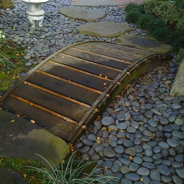 Gardens decks and design on pinterest for Japanese garden bridge design