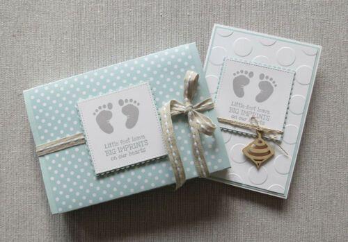 Baby Geschenkverpackung Amp Babykarte Junge Stampin Up