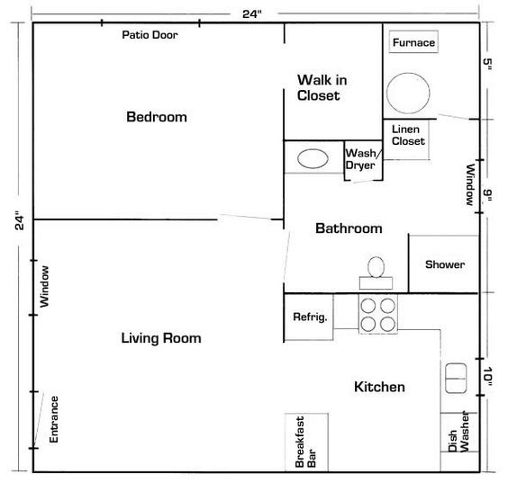 24 x 24 mother in law quarters with laundry room | Your Latest House Addition – A Mother In-Law Suite