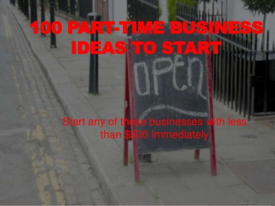 100 Home Business Ideas All Low Cost Business Ideas By Michael Kawula Via Slideshare