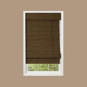 designview Maple Providence Bamboo Roman Shade, 48 in. Length (Price Varies by Size)-0213780 at The Home Depot
