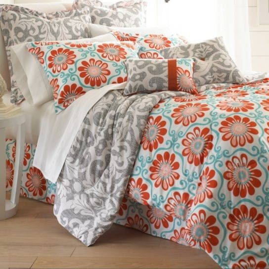 Comforter sets aren't just for sleeping. They can also be regarded, like armoires and suits of armor, as a practical piece of art for the bedroom. This eight-piece set includes euro shams, decorative pillows, pillow shams, and a tailored bed skirt, not to mention an oversized, overfilled comforter wrapped in 100% polyester.