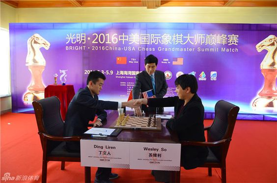 In a short, friendly match held in Shanghai, Ding Liren defeated Wesley  So with a 2.5-1.5 score. The Chinese number one player won one game; the other three ended in draws.  #Chess #Chesscompetition