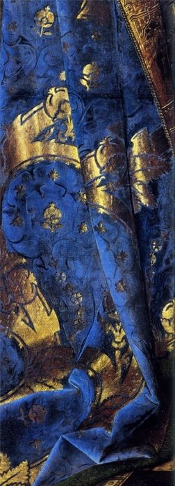 Blue Velvet - Detail from the painting 'Madonna With Canon van der Paele' by Jan van Eyck, 1432-36: