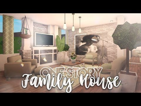 Roblox Bloxburg One Story Family House House Build Youtube