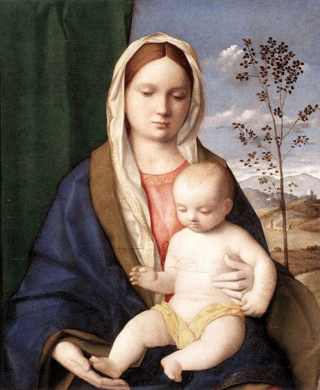 Madonna and Child: 1510 by Giovanni Bellini (Galleria Borghese - Rome) - Early Renaissance: