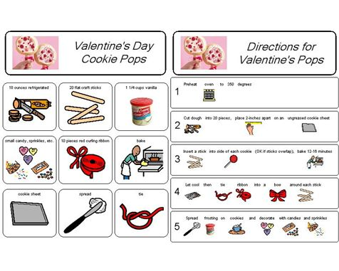 valentine's day cookie cake designs