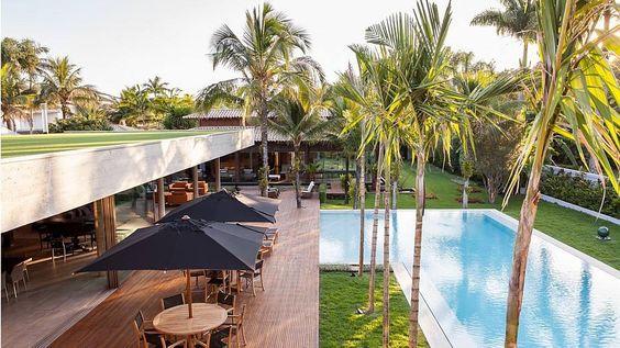 Ricardo Bassetti/Divulgação - Vista do pavilhão, com laje gramada, para aprimorar as condições de conforto térmico e acústico