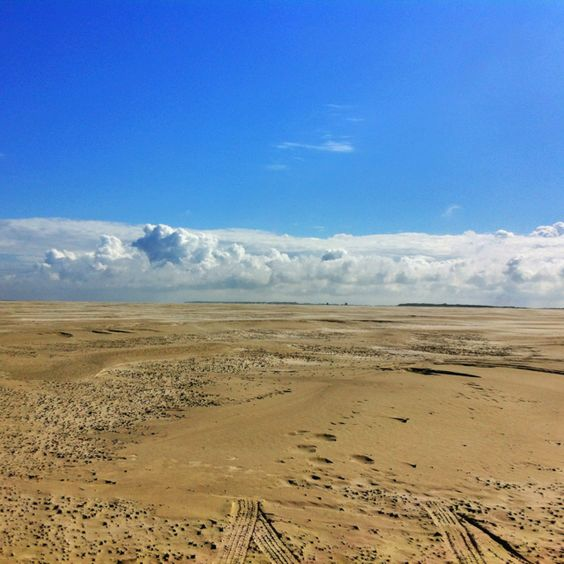De vliehors van Vlieland, ook wel de Sahara van het noorden genoemd..