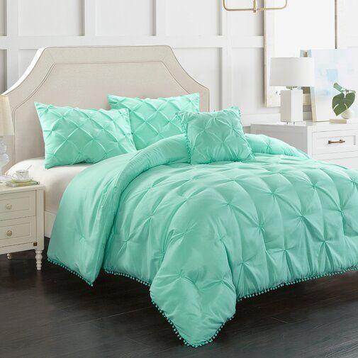 Braham 4 Piece Comforter Set In 2021 Comforter Sets Mint Green Bedding Green Bedding