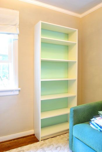 Making An Ikea Bookcase Look Built In (& Painting The Back ...