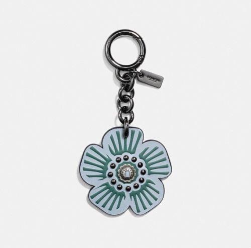 Coach 1941 Leather Tea Rose Key Ring Bag Charm Bag Charm