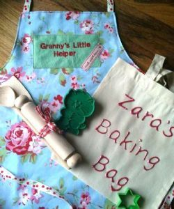 Handmade Apron, bag and utensils