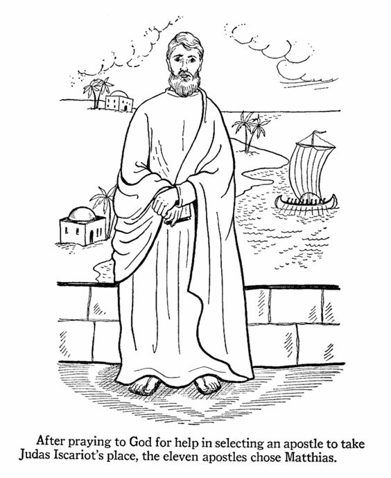 apostles bible coloring pages - photo#6