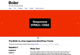 Boiler is a free, responsive WordPress theme available at Vorkshop.com - #wordpress