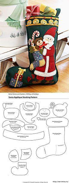 Artesanía de Navidad de fieltro.: