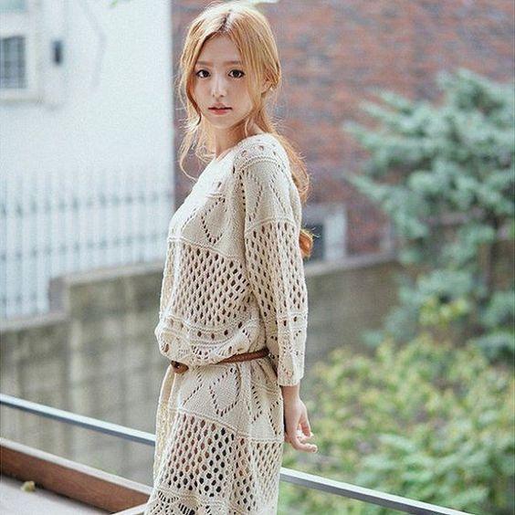 Chillax #ootd.  20% off GOROKE will end tomorrow! Shop up now.  GOROKE Dip-Back Open-#Knit #Dress http://yesstyle.com/p1045498598  #YesStyle #KoreanFashion #Fashion #girly #cute #style