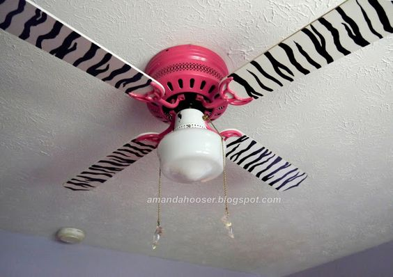 I Can Totally Do That...  Zebra striped ceiling fan instructions.