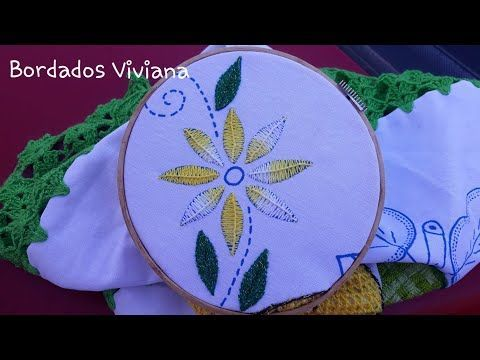 2 Puntadas Para Bordar Petalos De Flor Y Hojas Pequenas Youtube