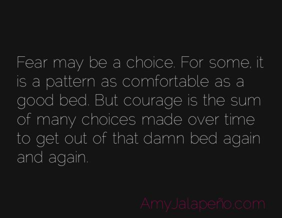 what fear has to do with a good bed (daily hot! quote) http://wp.me/pKYPJ-Df