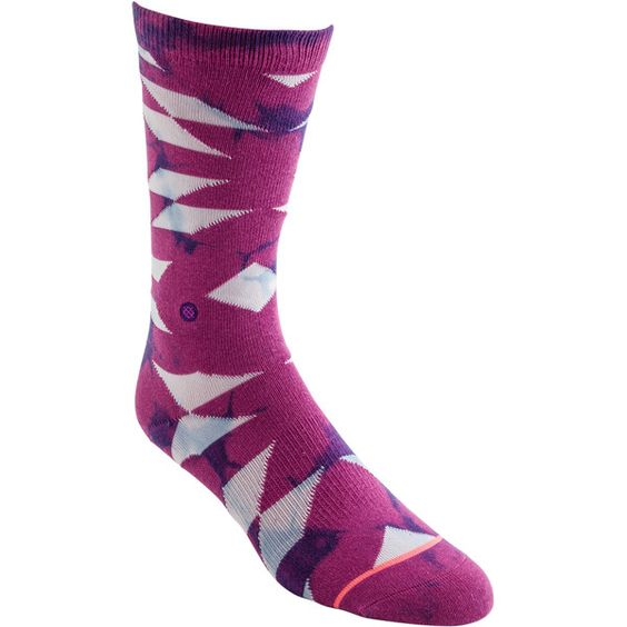 Stance Tribal Trip Tomboy Light Sock ($14) ❤ liked on Polyvore featuring intimates, hosiery, socks, purple, tie dyed socks, tye dye socks, purple socks, elastic socks and stance socks