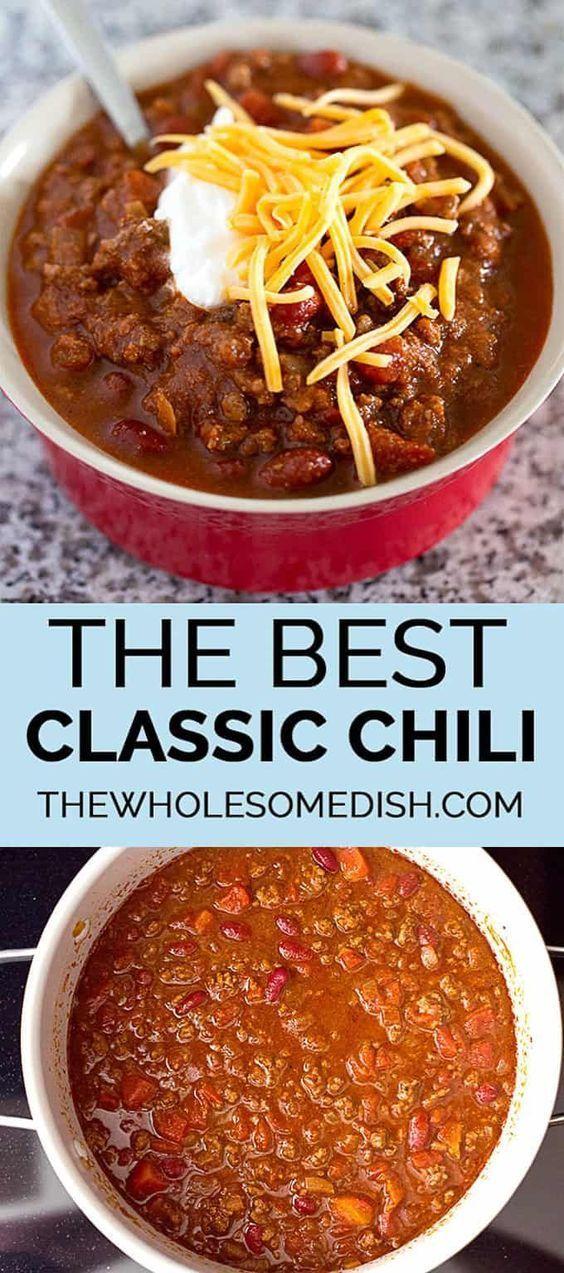 The Best Classic Chili
