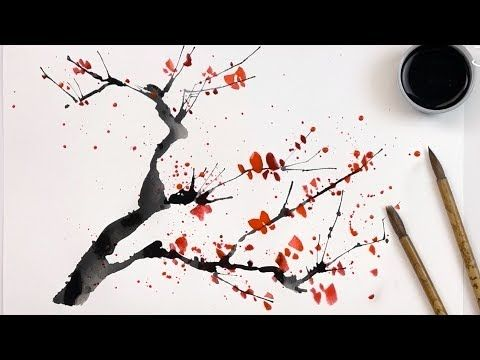 42 2 Hacks How To Paint Cherry Trees Using A Straw And Cotton