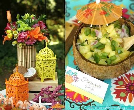 Themed parties tropical and party ideas on pinterest for Tropical themed house