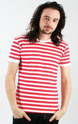 Camiseta MC Rayas Blancas y Rojas