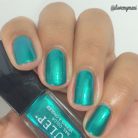 "Swatch of Julep Nail Polish, ""Phoebe"", a beautiful two coat mermaid shimmer polish..."