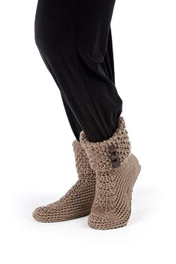 Free Crochet Pattern Slippers Cuffed Boots : letsjustgethooking : FREE PATTERN BUTTON CUFF BOOTS ...