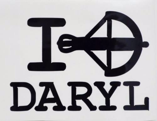 I Love Daryl Walking Dead Cool Car Truck Window Vinyl Decal - Cool vinyl decals
