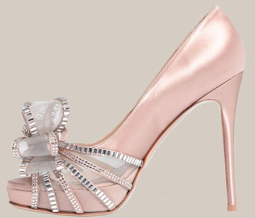 Valentino Crystal Bow Satin Pump This was priced over $1000 couple of years back!  Click pic for more info! Wow! Aline