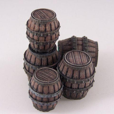 Download on https://cults3d.com #3Dprinting 3D Delving Decor: Medieval Barrels, Dutchmogul
